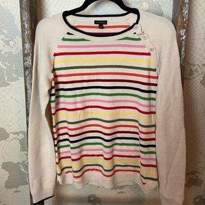 Talbots striped sweater S EUC Lambswool blend
